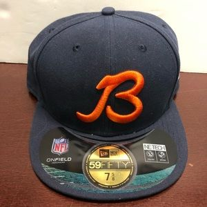 """New Era Blue 7 5/8"""" Fitted Chicago Bears hat"""